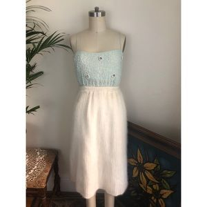 Fuzzy-Vintage-Angora-Lambswool-Pleated-Skirt